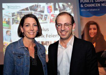 "<p class=""caption"">Landtagsabgeordnete Veronika Marte und ÖVP-Jugendsprecher Raphael Wichtl.</p>"