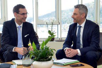 LH Wallner und InnenministerNehammer. Foto: handout/VLK