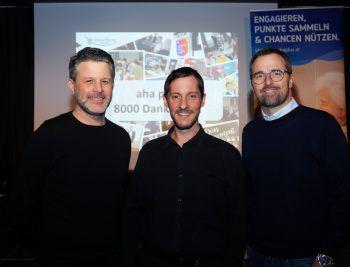 """<p class=""""caption"""">Mario Oberhauser (Gesamtverantwortung W&W), Christoph Kutzer (""""aha plus"""") und Markus Kirschner (W&W-Verkaufsleiter).</p>"""