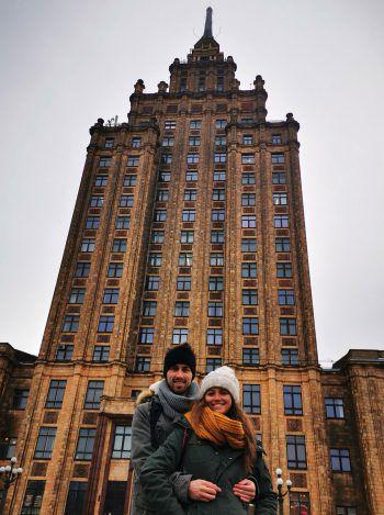 <p>Sight-Seeing: Stefanie und Timo erkundeten Riga ganz genau.</p>