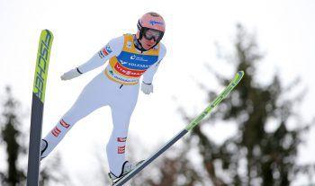 Stefan Kraft bewies gestern am Kulm erneut seine Topform. Foto: GEPA