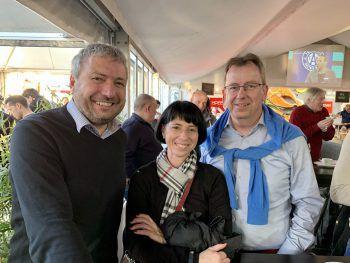"""<p class=""""caption"""">Thomas Schwärzler, Wolfgang und Barbara Frick.</p>"""