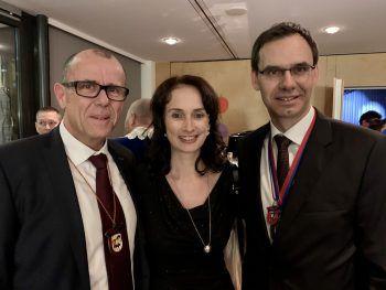 "<p class=""caption"">Walter Gohm, Landeshauptmann Markus Wallner mit Sonja.</p>"