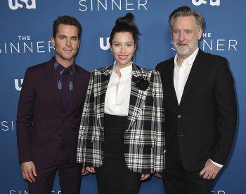 """<p>West Hollywood. Berühmt: Matt Bomer, Jessica Biel und Bill Pullman bei der Premiere von """"The Sinner"""".</p>"""