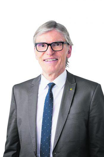 Wilfried Hopfner, Vorstandsvor-sitzender der Raiffeisenlandesbank Vorarlberg.