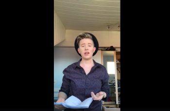 """<p class=""""caption"""">Auch Janet Sommer nahm am Poetry Slam teil.</p>"""