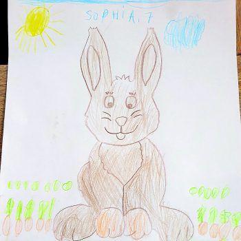 """<p class=""""caption"""">Auch Sophia (7) nimmt mit ihrer Zeichnung am Gewinnspiel teil.</p>"""