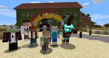 Das Jugendhaus Villa K. beim Online-Game Minecraft hat geöffnet.Fotos: Offene Jugendarbeit Bludenz/Screenshot Minecraft und Skribbl.io