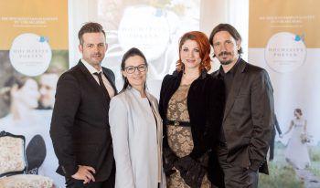 "<p class=""caption"">Das Team der Hochzeitspoeten: Manuel Riesterer, Gabi Micheluzzi, Nina Fleisch, Alexander Sonderegger.</p>"