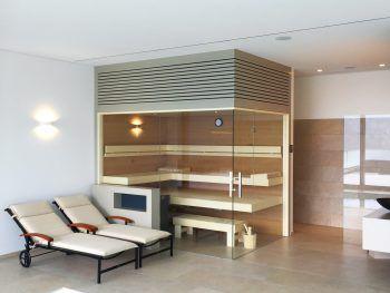 """<p class=""""caption"""">Eine Sauna von GFE Pool & Sauna: Jetzt gleich beraten lassen!</p>"""