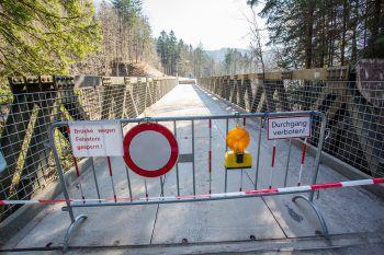 Freitag: Neuerlicher Felssturz in der Rappenlochschlucht.Foto: Steurer