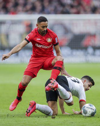 Für Adi Hütter und die Frankfurter Eintracht setzte es in Leverkusen eine bittere 0:4-Klatsche. Foto: AP