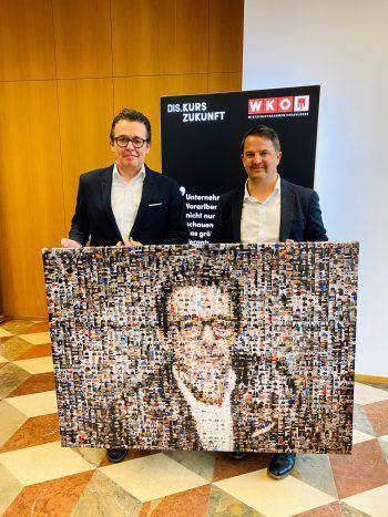Hans-Peter Metzler und Jürgen Kessler sind beeindruckt vom Wahlergebnis.