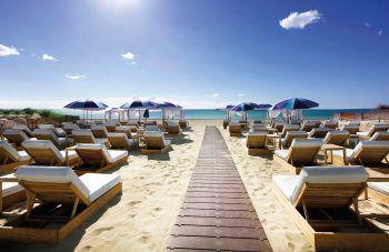 """<p class=""""title"""">               Hard Rock Hotel Ibiza*****             </p><p>Legendäres Hotel mit einmaligem Ambiente, direkt am feinsandigen Strand der Playa d'en Bossa gelegen. Es ist berühmt für außergewöhnliche Ausstattung, die ganz im Zeichen der Musik steht und natürlich für seine Partys.</p><p />"""
