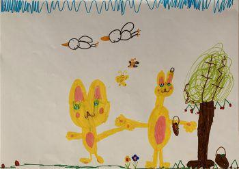 """<p class=""""caption"""">Kate (6) hat eine kreative Ader.</p>"""