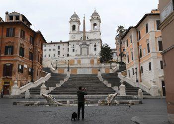 Leere Sehenswürdigkeit: Die berühmte spanische Treppe in Rom ist verwaist. Foto: Reuters