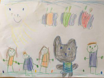 """<p class=""""caption"""">Leonie freut sich mit ihrer Familie schon sehr auf Ostern.</p>"""