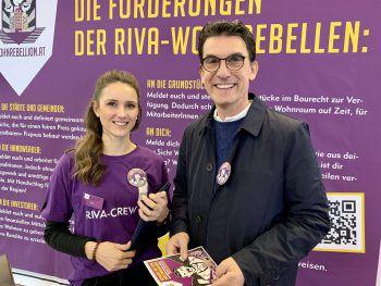 """<p class=""""caption"""">Lisa Hofer und Wilfried Hefel von den Wohnrebellen.</p>"""