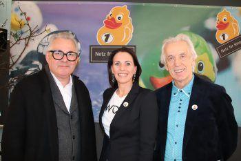 Markus Hladik (F.M. Hämmerle) mit Christine Wiesenegger und Hubert Löffler.