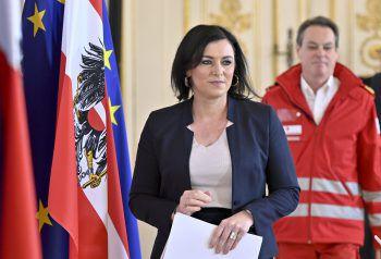 Ministerin Elisabeth Köstinger bei der gestrigen Pressekonferenz.Foto: APA
