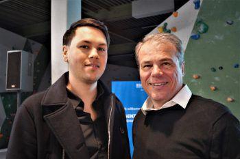 """<p class=""""caption"""">Philipp Streitler und Gerhard Ölz (Intercoiffeur Ölz).</p>"""