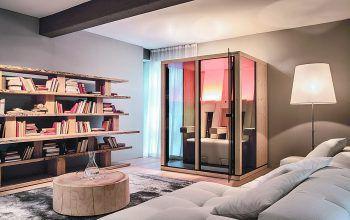 Schlicht, elegant, schlank oder großzügig im Raum: Sitz- und Liege-Infrarotkabinen von Physiotherm.Fotos: handout/GFE