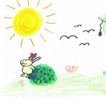 """<p class=""""caption"""">Tatjanas Häschen genießt die warme Sonne.</p>"""