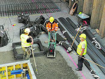 Trotz Covid-19-Beschränkungen kommen die Arbeiten gut voran.Foto: ÖBB/Lumetzberger