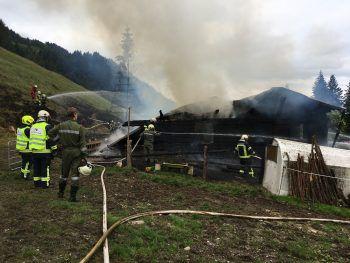 Alpe Eugster in Vollbrand – Großeinsatz der Feuerwehren.Foto: VOL.Live