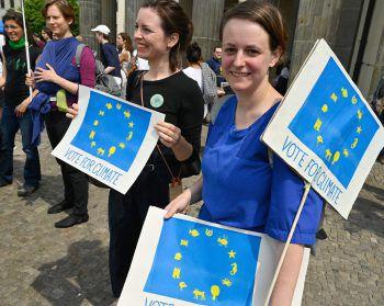 Die Jugendlichen sind pro EU. Foto: APA