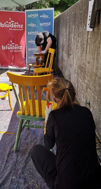 """Die """"stadt.stühle"""" sollen frischen Wind in die Innenstadt bringen.Foto: handout/Remise"""
