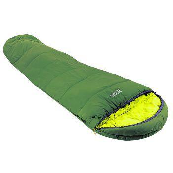 """<p class=""""caption"""">Im Schlafsack von """"Regatta"""" hat man auch beim Camping angenehme Träume. Preis: 59,99 Euro.</p>"""