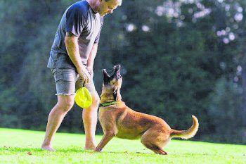 Markus mit seiner Banja vom Weinbergland beim Training.