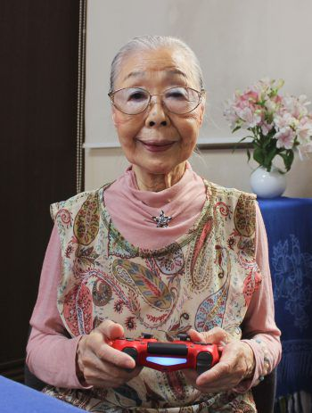 "<p>Matsudo. Cool: Japans älteste Videospiel-YouTuberin und ""Gamer-Oma"" Hamako Mori (90).</p>"