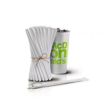 McDonald's reduziert Plastik und setzt auf Papierstrohhalme. Foto: handout McDonald's