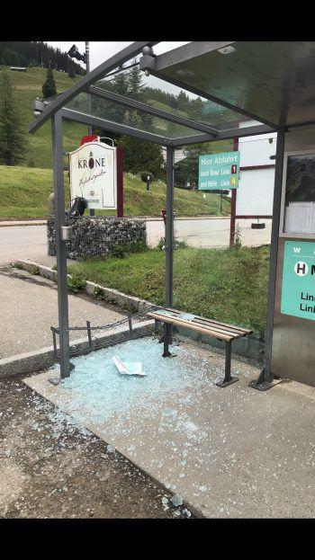 Mittelberg: Die Polizei sucht Zeugen der mutwilligen Zerstörung. Foto: handout/Polizei
