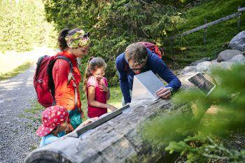 """<p class=""""title"""">               Natursprünge-Weg Brandnertal             </p><p>Auf dem Natursprünge-Weg gibt es für die ganze Familie viel zu entdecken, zu staunen und zu erleben. Der interaktive Wanderweg zeigt die Geheimnisse der alpinen Natur. Los geht es mit der Dorfbahn und über die Innere Parpfienzalpe zum Burtschasattel. Wer es entspannter mag, nimmt nach der Dorf- zusätzlich die Panoramabahn und läuft den Weg in anderer Richtung. Fotos: handout/Alpenregion Vorarlberg</p>"""
