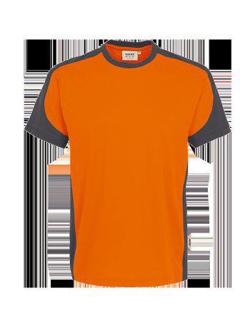 "<p class=""caption"">Performance Kontrast T-Shirt Orange-Anthrazit, Preis 11,60 Euro (exkl. 20% MwSt.) Gesehen bei Workwear Waibel in Klaus.</p>"