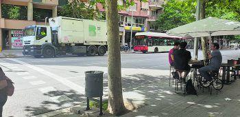 """<p class=""""caption"""">So wenig Verkehr ist für die spanische Millionen-Metropole eher unüblich.</p>"""