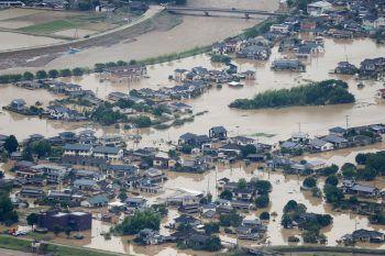 Heftige Unwetter hinterließen eine Spur der Verwüstung.Foto: AFP