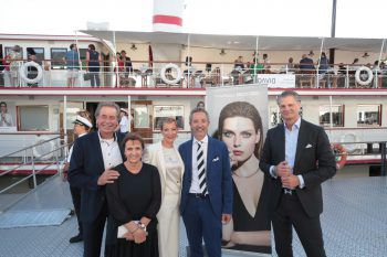 Helmut, Roswitha, Melanie und Marco David mit Alexander Lainer (Marco Bicego).