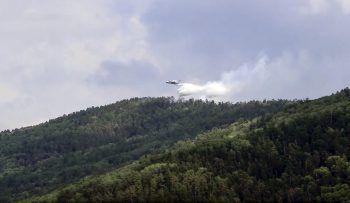 Löschflugzeug über Sibirien.Foto: AP