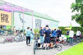 """Radfahren ist ein Lebensgefühl: Die Besucher des """"FestiVelo"""" dürfen sich noch bis zum 22. August auf ein tolles Programm freuen.Foto: handout/WIGE Lustenau"""
