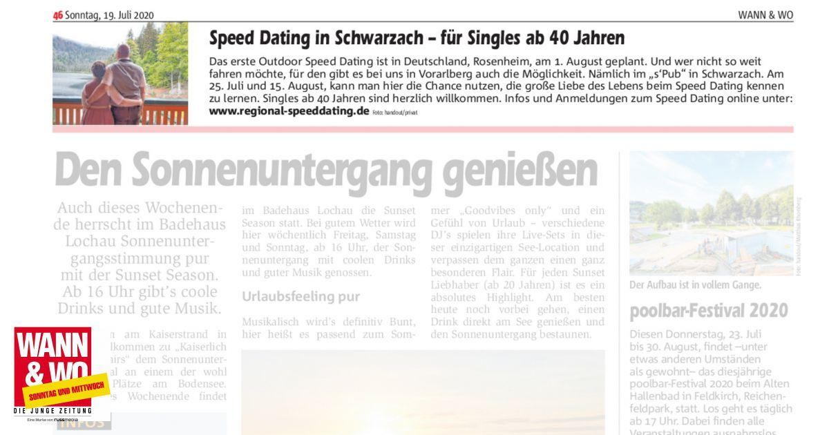Speeddating vorarlberg 2020