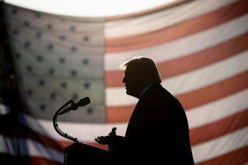 """<p>Bemidji. Wahlkampf: Der noch amtierende US-Präsident Donald Trump hält im Zuge der """"Great American Comeback""""-Kampagne in Minnesota eine Rede.</p>"""