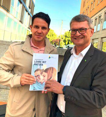 """<p class=""""caption"""">BFI-GF Mario Prünster, MAS und WIFI-Institutsleiter Dr. Thomas Wachter.</p>"""