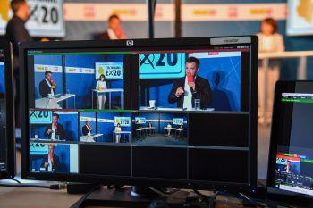Bürgermeister-Stichwahl-Duell im VOL.AT TV-Studio.Foto: Lerch