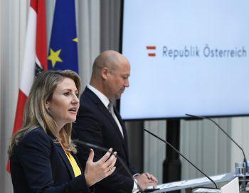 Katharina Pabel gestern in Wien.Foto: APA