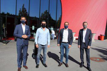 """<p class=""""caption"""">LH Markus Wallner, Mario Oberhauser, Markus Kirschner und Bernhard Moosbrugger.</p>"""