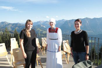 """<p class=""""caption"""">Lisa Rädler, Anna Österle und Nadine Leitner von Alma.</p>"""